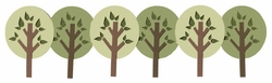Round Tree Border Laser Die Cut