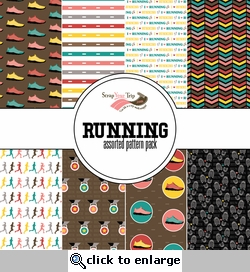 Running Assorted 12 x 12 Paper Pack
