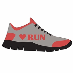 Running: Love Run Laser Die Cut