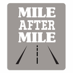 Running: Mile after Mile Laser Die Cut