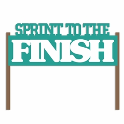 Running: Sprint to the Finish Laser Die Cut