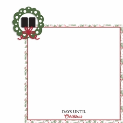 Rustic Christmas: Days til' Christmas 2 Piece Laser Die Cut Kit