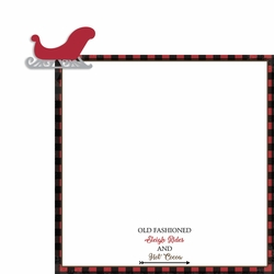 Rustic Christmas: Sleigh 2 Piece Laser Die Cut Kit