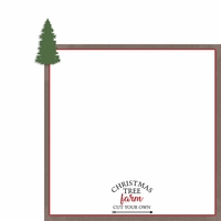 Rustic Christmas: Tree Farm 2 Piece Laser Die Cut Kit