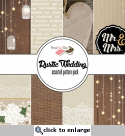 Rustic Wedding Assorted 12 x 12 Paper Pack