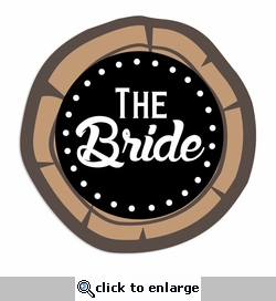 Rustic Wedding: Bride Laser Die Cut