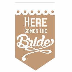Rustic Wedding: Here Comes Laser Die Cut
