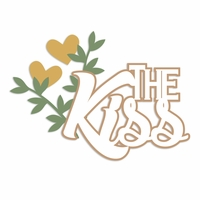 Rustic Wedding: Kiss Laser Die Cut