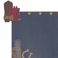 Saddle Up: Giddy Up 2 Piece Laser Die Cut Kit