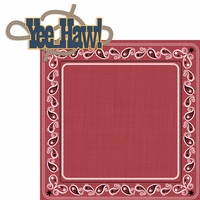 Saddle Up: Yee Haw! 2 Piece Laser Die Cut Kit