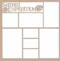 Safari Expedition 12 x 12 Overlay Laser Die Cut