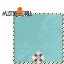 Sail Away: Muster Drill 2 Piece Laser Die Cut Kit