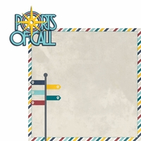 Sail Away: Port of Call 2 Piece Laser Die Cut Kit