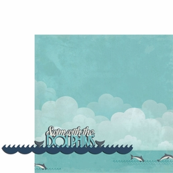 Sail Away: Swim with Dolphins 2 Piece Laser Die Cut Kit