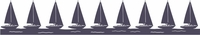 Sailboat Border Die Cut
