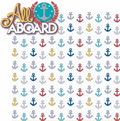 Sailing Away: All Aboard 2 Piece Laser Die Cut Kit