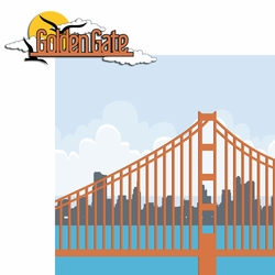 2SYT San Fran: Golden Gate 2 Piece Laser Die Cut Kit