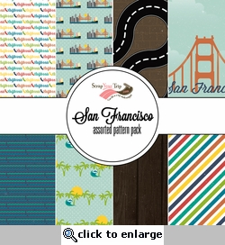 San Francisco Assorted 12 x 12 Paper Pack