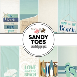 Sandy Toes Assorted 12 x 12 Paper Pack
