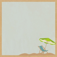 Sandy Toes: Relax 12 x 12 Paper