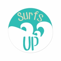 Sandy Toes: Surf's Up Laser Die Cut