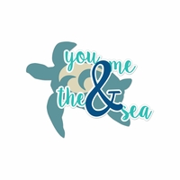 Sandy Toes: You Me And The Sea Laser Die Cut