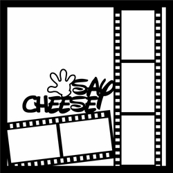 Say Cheese 12 x 12 Overlay Laser Die Cut