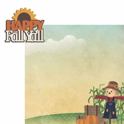 Scarecrow: Happy Fall 2 Piece Laser Die Cut Kit