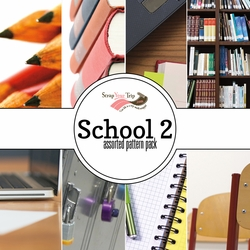 School 2  Assorted 12 x 12 Paper Pack