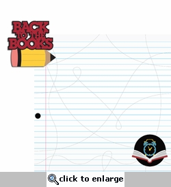 School: Back to the books 2 Piece Laser Die Cut Kit