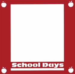 1SYT School Days 12 x 12 Overlay Laser Die Cut