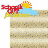 School's Out: School's Out For Summer 2 Piece Laser Die Cut Kit