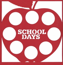 1SYT School: School Days Apple 12 x 12 Overlay Laser Die Cut