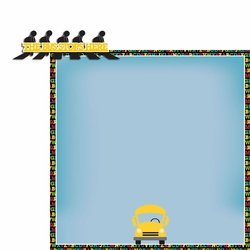 School: The bus stops here 2 Piece Laser Die Cut Kit