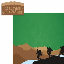Scouting: 50 Mile Hike 2 Piece Laser Die Cut Kit