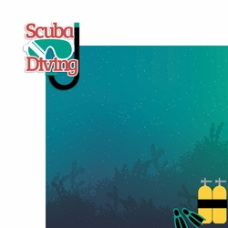 Scuba: Scuba Diving 2 Piece Laser Die Cut Kit