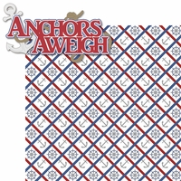 Sea Breeze: Anchors Aweigh 2 Piece Laser Die Cut Kit