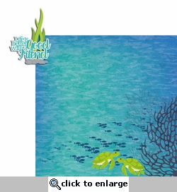 Sea Turtle: Good Friends 2 Piece Laser Die Cut Kit
