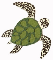 Sea Turtle Laser Die Cut