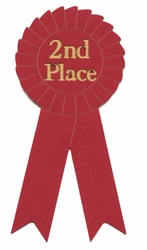 Second Place Ribbon Laser Die Cut