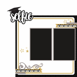 Senior selfie 2 Piece Laser Die Cut Kit