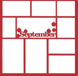 September 12 x 12 Overlay Laser Die Cut