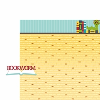 September: Bookworm 2 Piece Laser Die Cut Kit