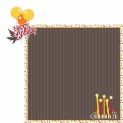 September: Happy Birthday 2 Piece Laser Die Cut Kit