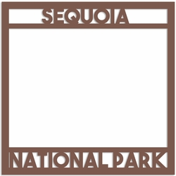 Sequoia National Park Overlay Laser Die Cut