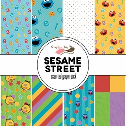 Sesame ST Assorted 12 x 12 Paper Pack