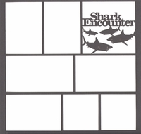 Shark Encounter 12 x 12 Overlay Laser Die Cut