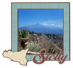 Sicily Photo Frame Laser Die Cut