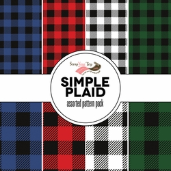 Simple Plaid Assorted 12 x 12 Paper Pack