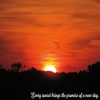 Simple Sayings: Every sunset 12 x 12 Paper